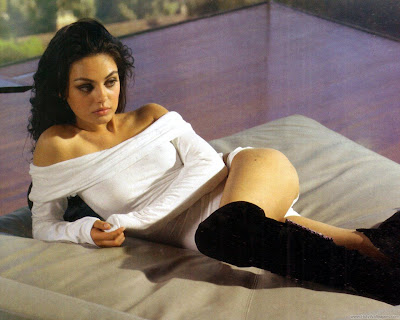 Mila Kunis Beautiful Hollywood Actress Wide Screen Wallpaper