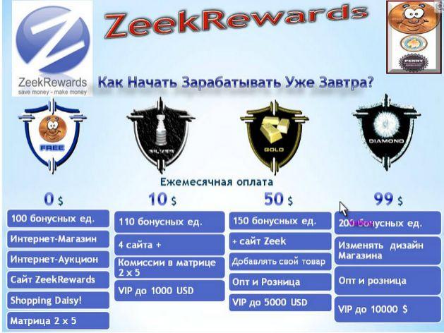 Венея: презентация документ zeek rewards