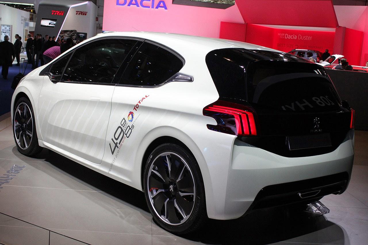 Automotiveblogz: Peugeot 208 Hybrid FE concept: Frankfurt 2013 ...