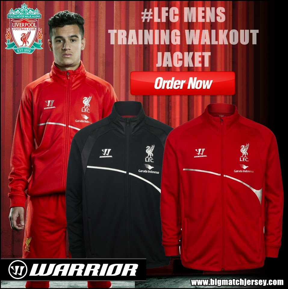 Jaket Training Red Black Liverpool Garuda Indonesia Warrior Official 2015