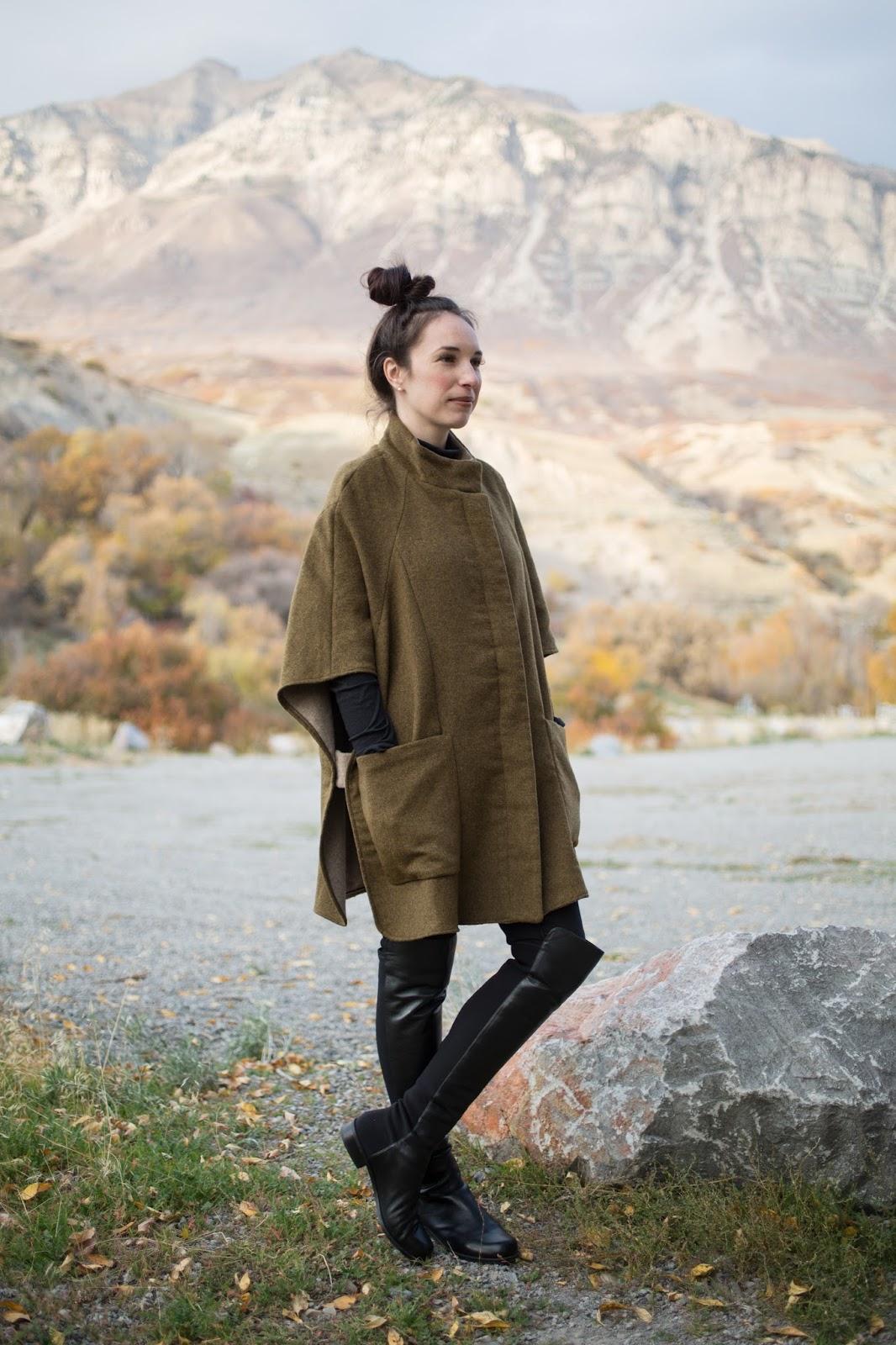 Zara Wool Poncho Cape