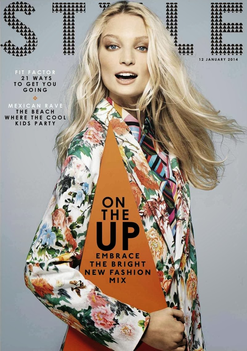 Magazine Cover : Melissa Tammerijn Magazine Photoshoot Pics on Sunday Times Style Magazine January 2014 Issue