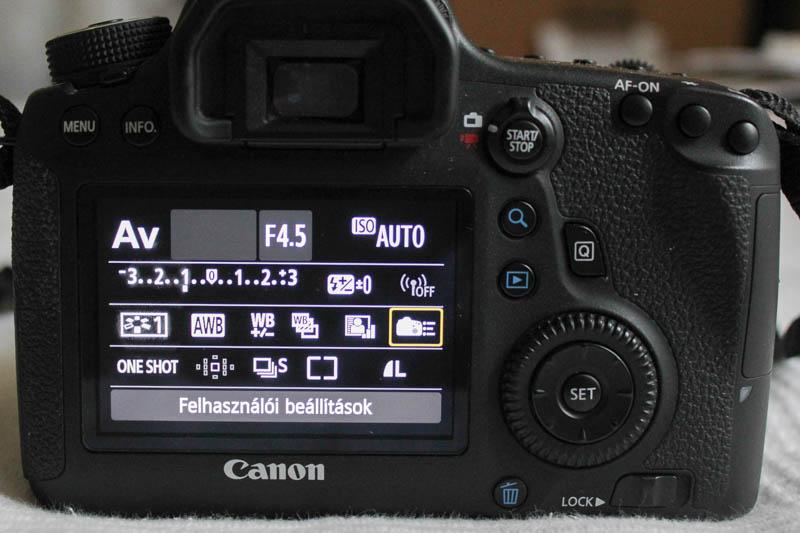 Canon 6D AF-ON beállítása: Felhasználói beállítások