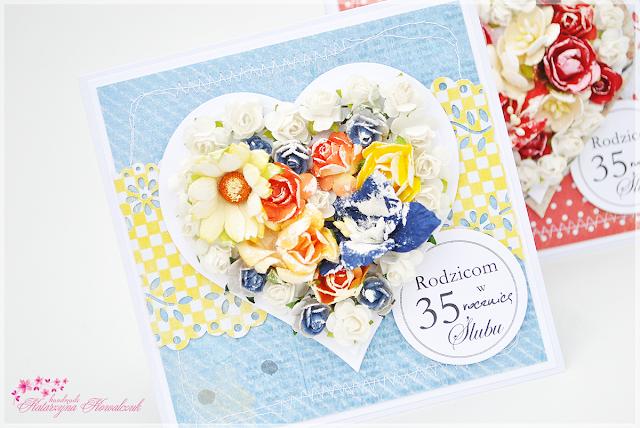 Kartki z okazji 35 rocznicy ślubu scrapbooking