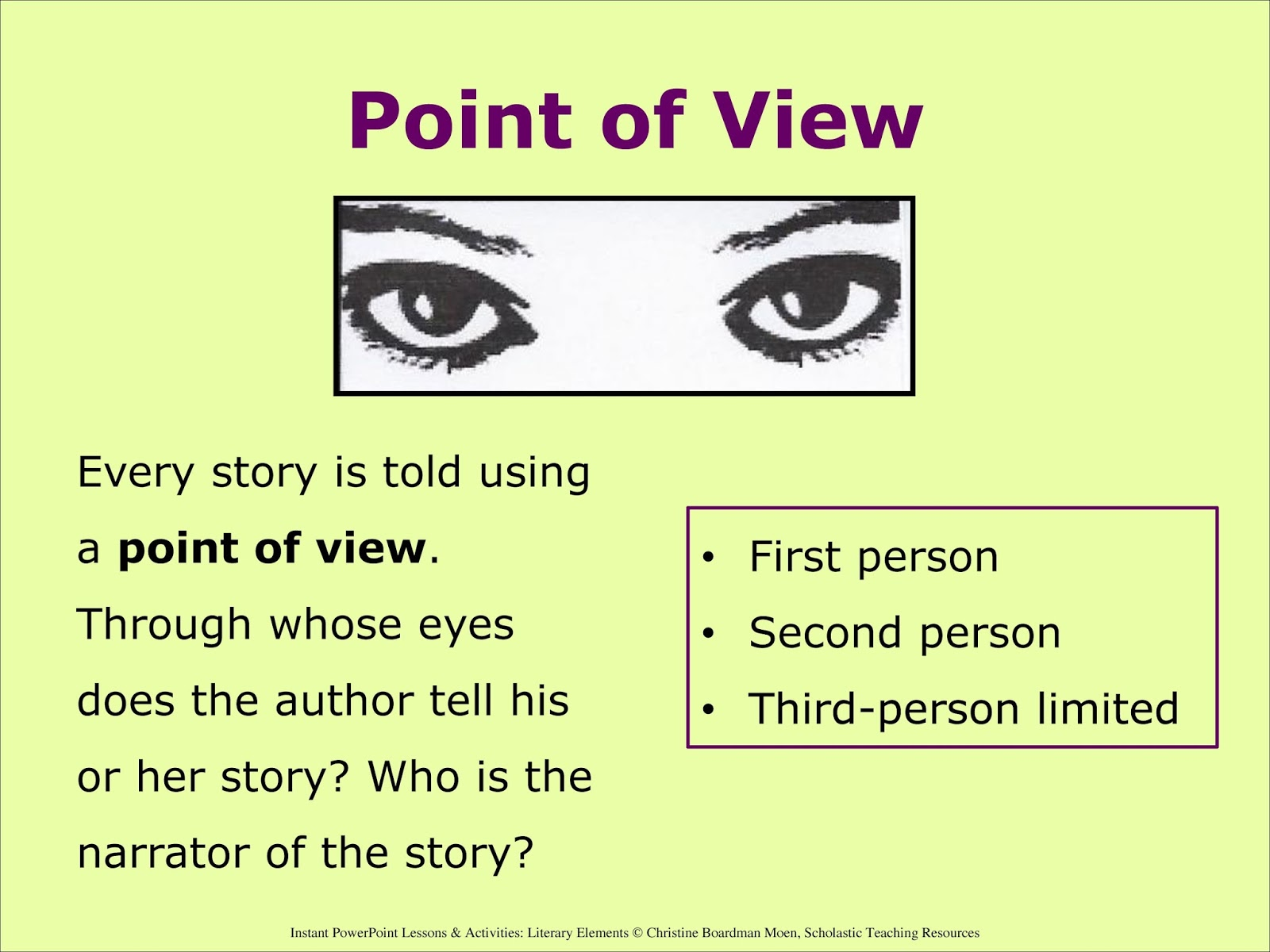 Narrative vs. Descriptive