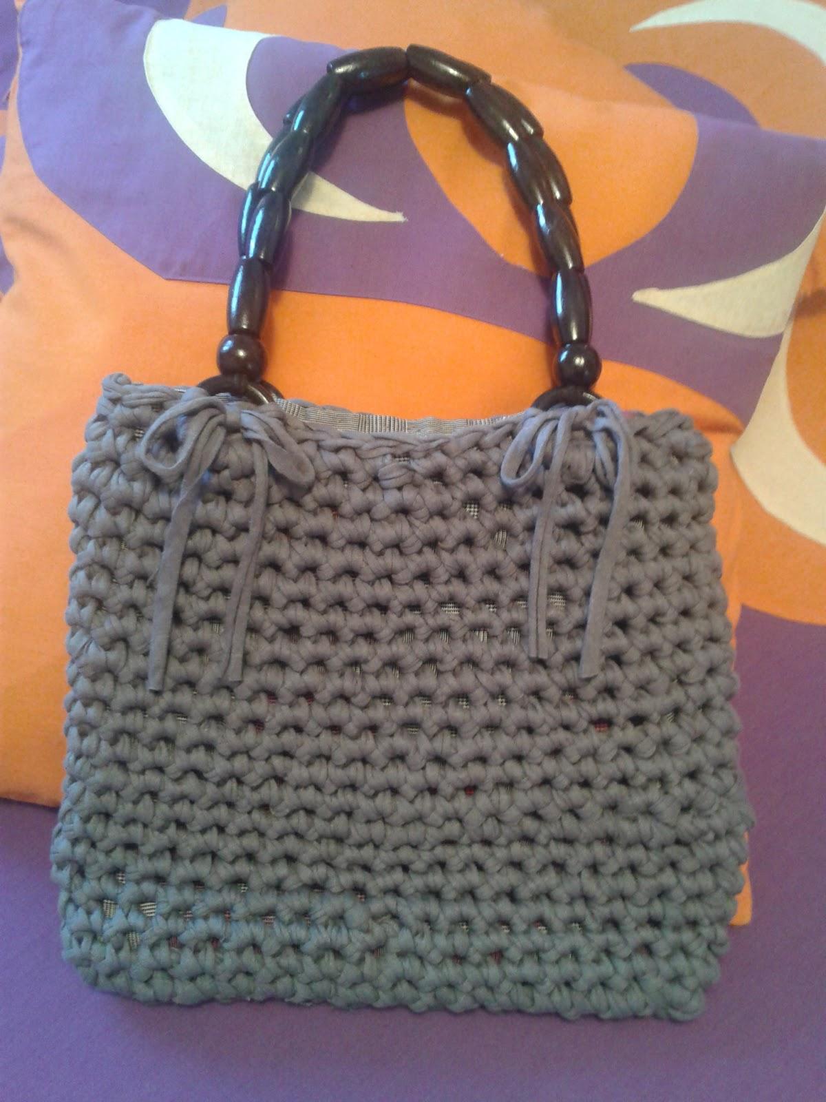Gorongocha bolso crochet trapillo for Bolso crochet trapillo