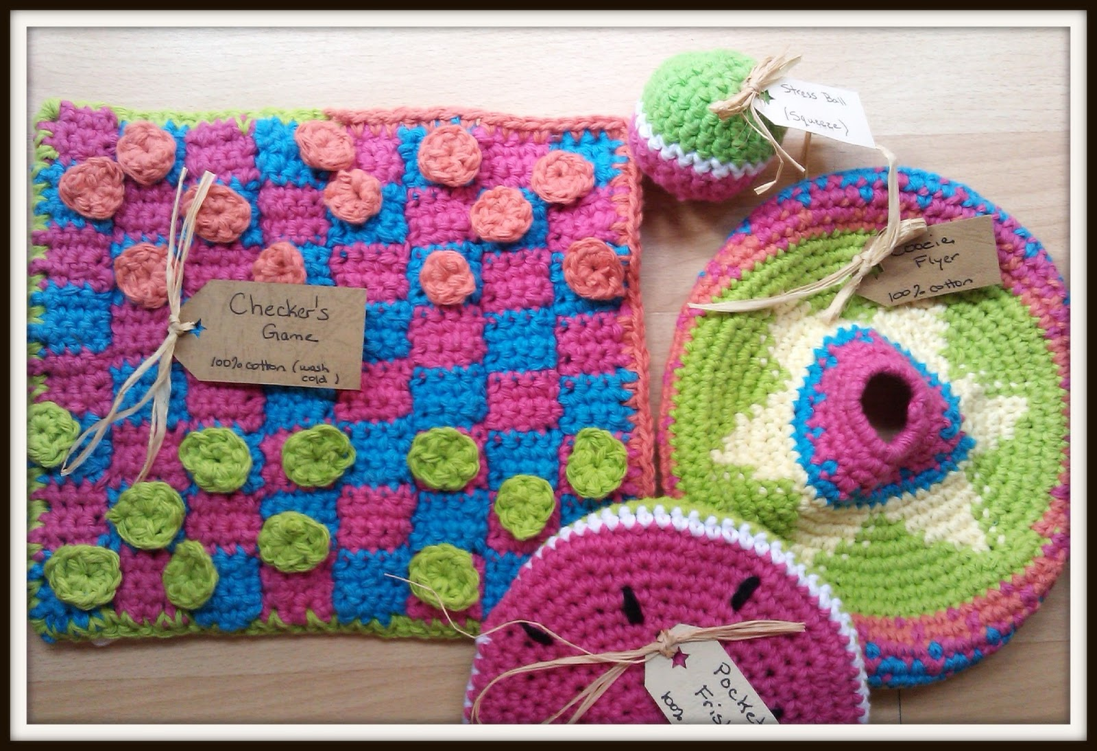 Free Crochet Patterns Games : Double Treble Craft Adventures: Crochet Tic Tac Toe Game