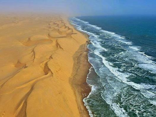 There is a country in Africa named Namibia, where a desert meets with a sea...