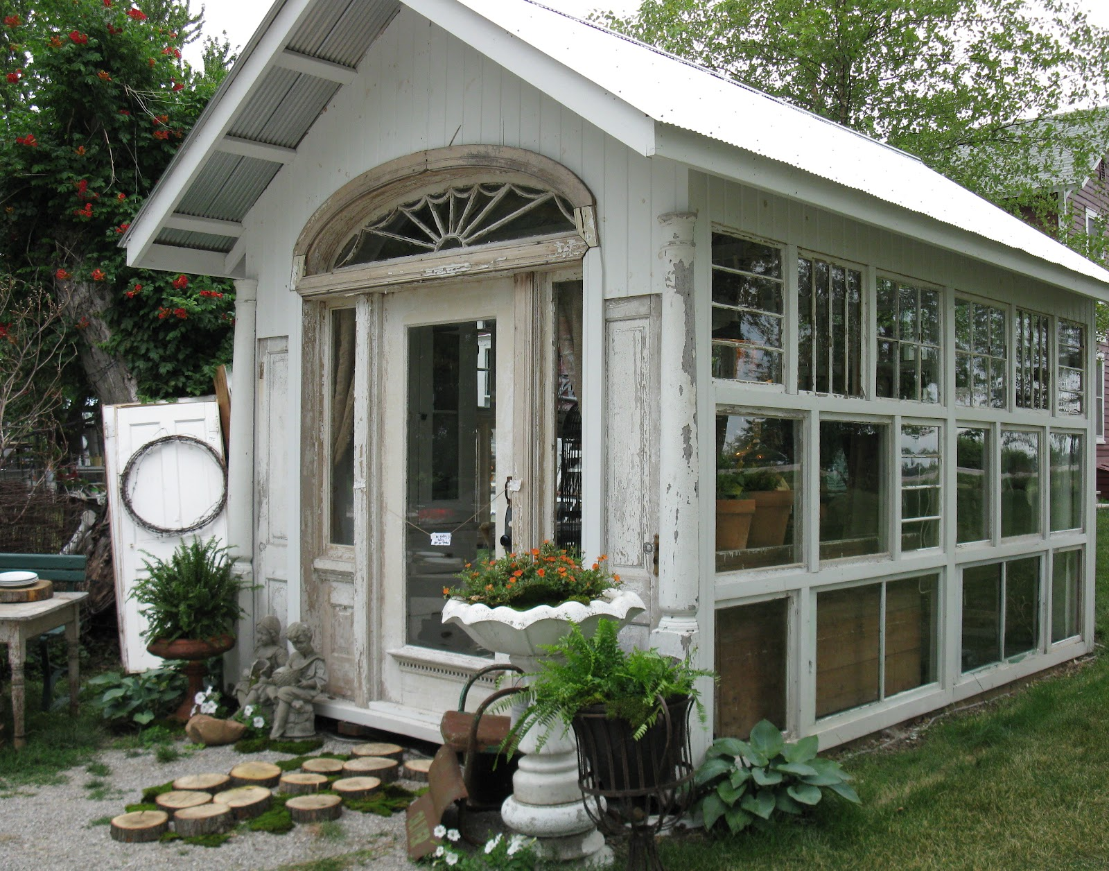 Sisters garden the glass house