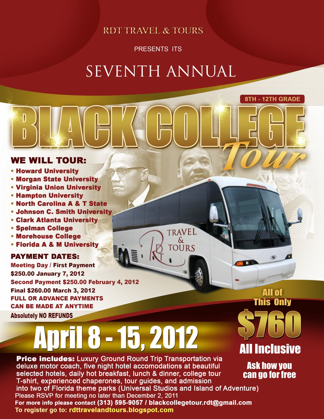 Rdt Travel Tours Flyer 2014