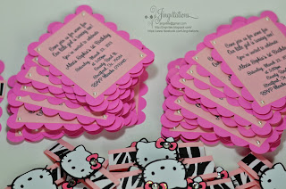hello kitty zebra baby shower invitations