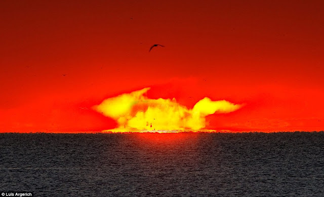 Gambar matahari seolah meletup