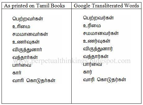 Transliteration Of The Letter R In Tamil Language