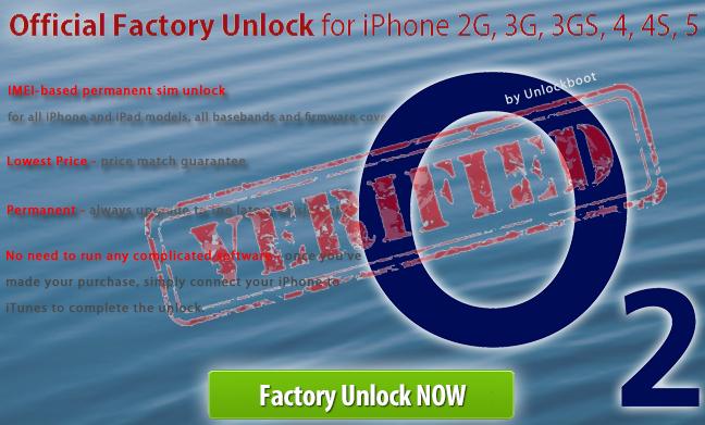Unlock O2 iPhone 5