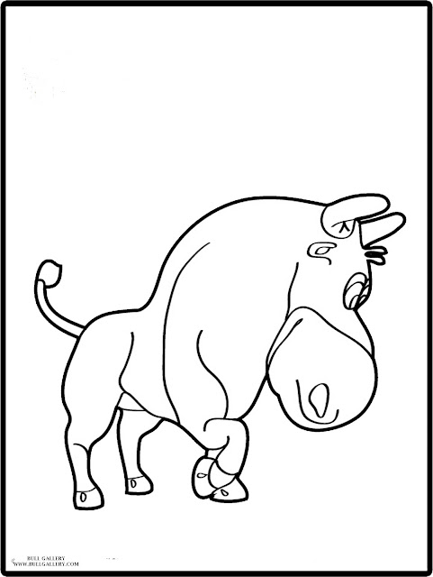 Bull Images Coloring And Drawing