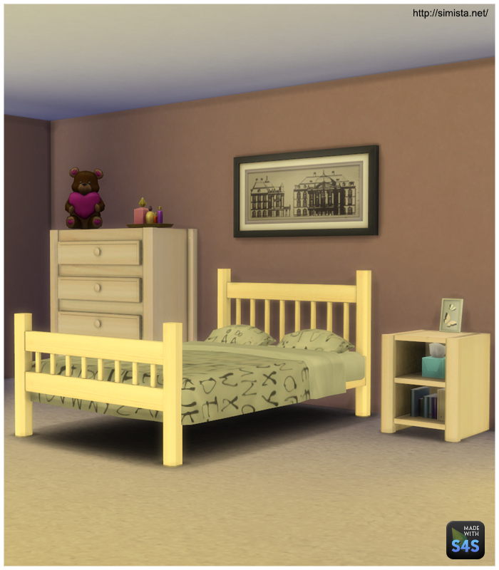 My Sims 4 Blog: Simple Bedroom Set By Mr S