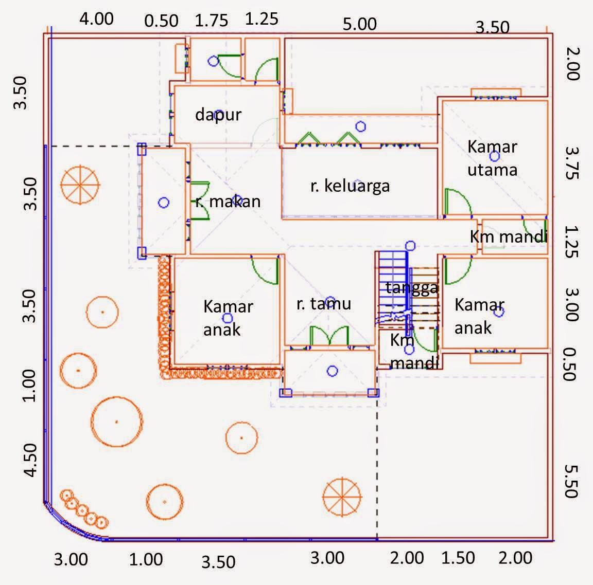 Desain Rumah Tumbuh Di Tanah 256 M2 Desain Pertama Kedua Dan