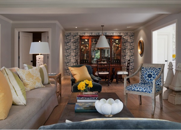 Mempercantik Ruang Tamu dengan Wallpaper Dinding | Model Denah