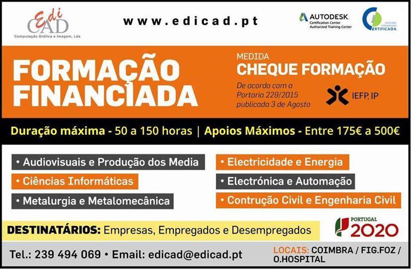 Formação financiada: Medida Cheque-Formação – Coimbra, Figueira da Foz e Oliveira do Hospital