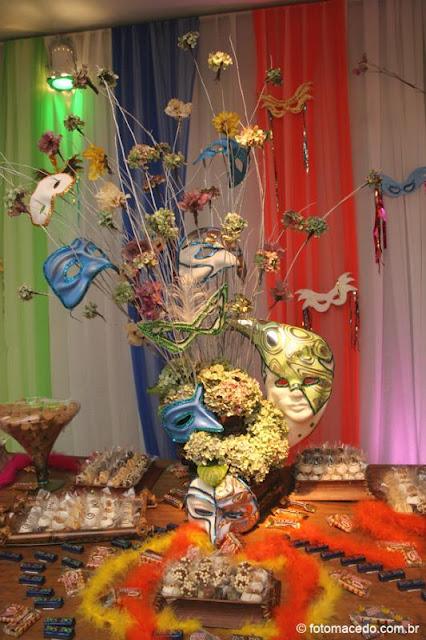 decoracao festa fantasia ideias:Tema Carnaval, baile a fantasiashow!!! Este está bem requintado