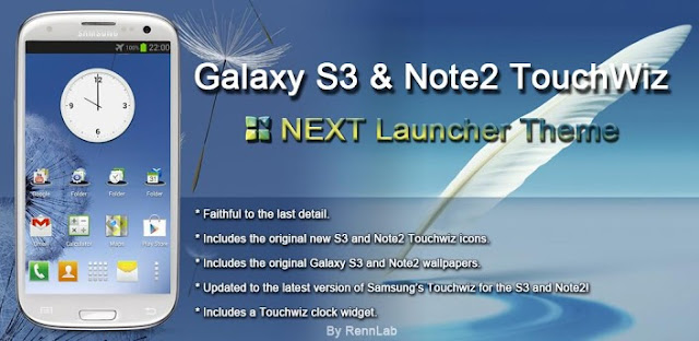 Next Launcher Galaxy S3 Note 2 v1.0 APK