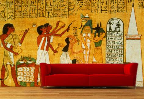 Decopared murales pintados a mano alzada en paredes for Mural egipcio