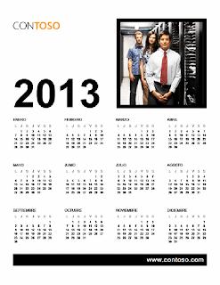 Calendario empresarial 2013