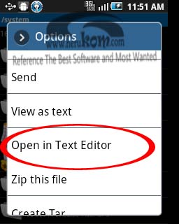 open in text editor