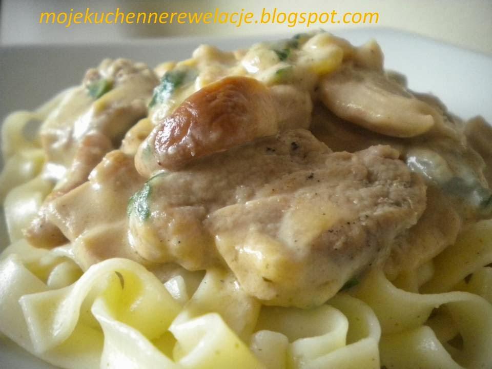 polędwiczki z serem pleśniowym i borowikami