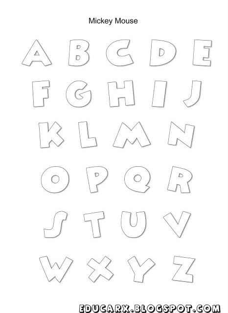 Modelo de letras mickey