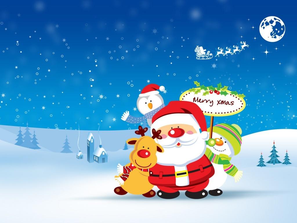 Djed-Mraz-ti-s-prijateljima-cestita-sret
