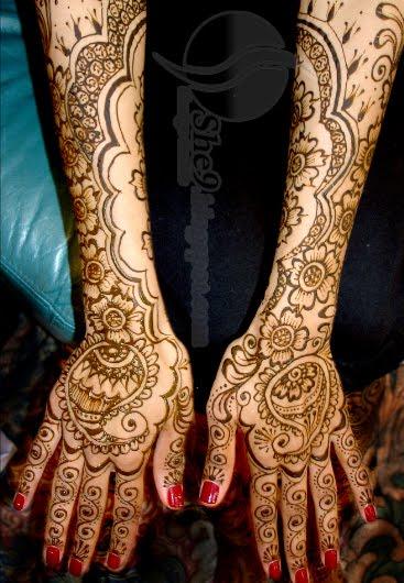 Mehndi Bridal Hands : Arabic bridal mehndi designs for hands design
