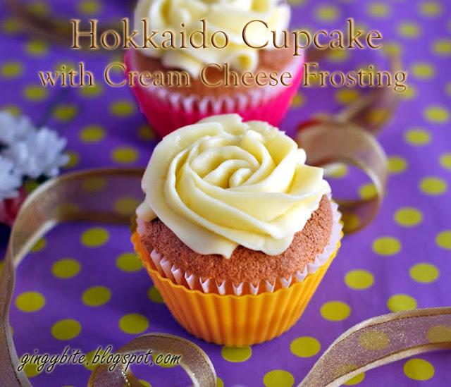 Hokkaido Cupcake With Cream Cheese Frosting