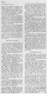 Jet Chase of Large Circular Object Investigated By Far East Air Force (pg 2 Crpd) - UFO Investigator Aug-Sept 1957