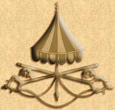 The Sede Vacante symbol