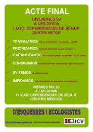 ACTO FINAL DE CAMPAÑA ICV