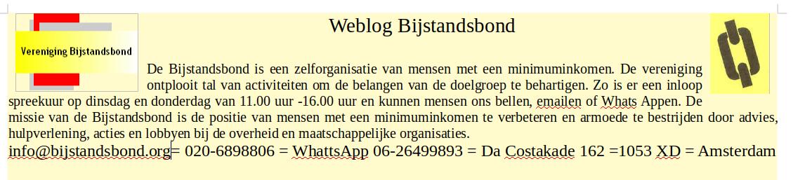 Weblog Bijstandsbond