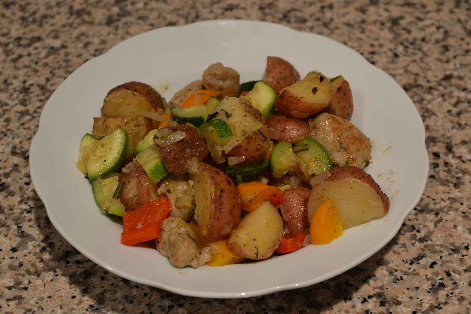 Summer Vegetables with Sausage and Potatoes - LaForce Be With You