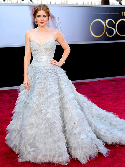 Amy Adams Oscars dress, Oscar de le Renta