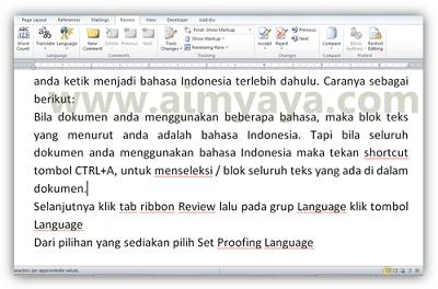 Gambar: Contoh teks dengan bahasa Indonesia
