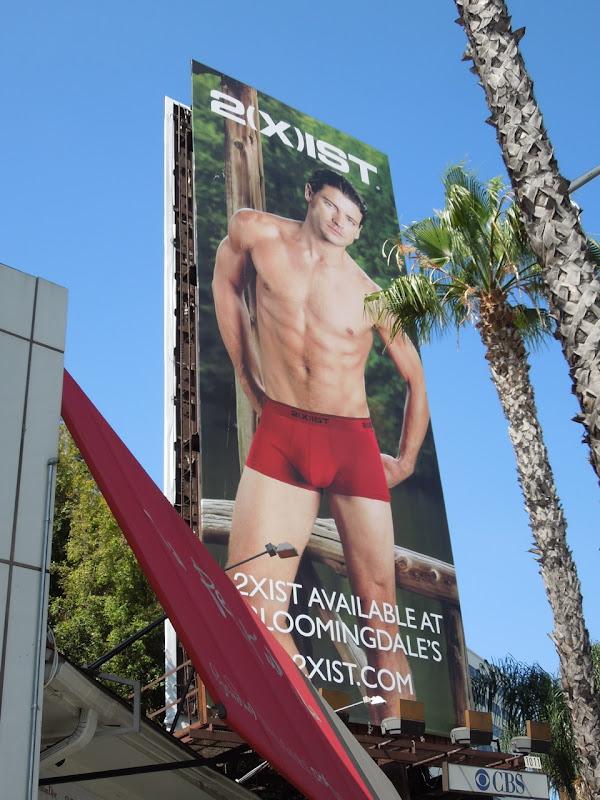 2(x)ist male underwear model billboard