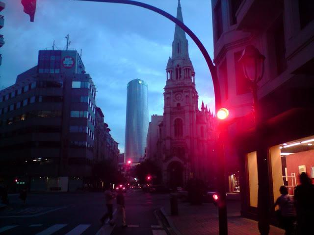 Bilbao,semáforos,torre Iberdrola