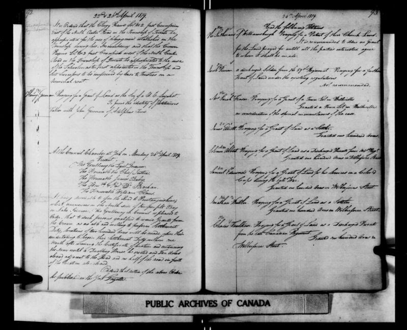 Finding an Ancestor in the Challenging Upper Canada Land Books
