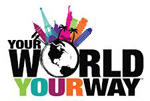 Your World Your Way logo, designed by Noel Calello