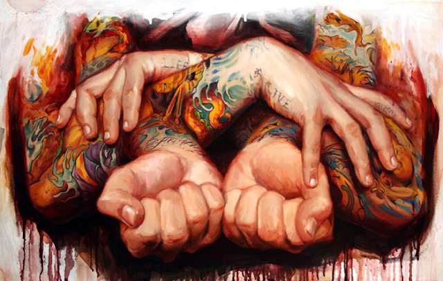 Retratos de tatuajes de Shawn Barber, http://distopiamod.blogspot.com.es