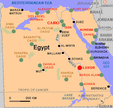 Egypt Map Mountains - Map of egypt mountains