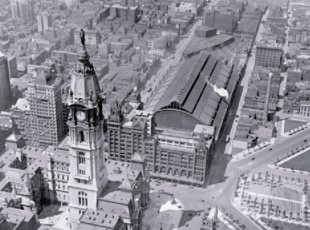 Philly Stuff Aerial View City Hall And Broad Street Station Philadelphia Circa 1920