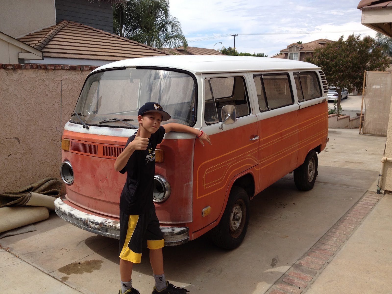 greasy hands  busted knuckles  vw bus project