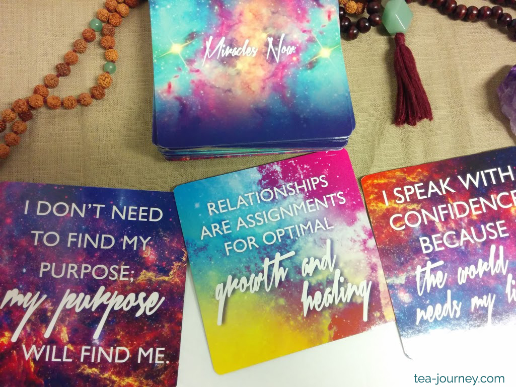 Gabrielle Bernstein's Miracles Now Oracle Card Deck  quick inspiration (or answers) Mala collective. Add it to your tea or spiritual practice, meditate I don't need to find my purpose will find me