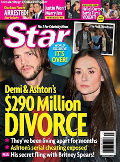 celebrity gossip  Ashton Kutcher and Demi Moore Devorce